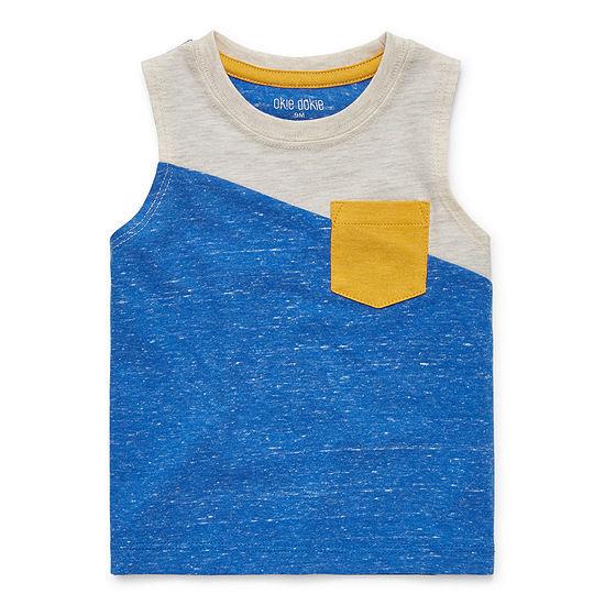 Okie Dokie Baby Boys Crew Neck Sleeveless Muscle T-Shirt
