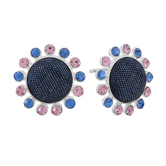 Liz Claiborne 15mm Round Stud Earrings