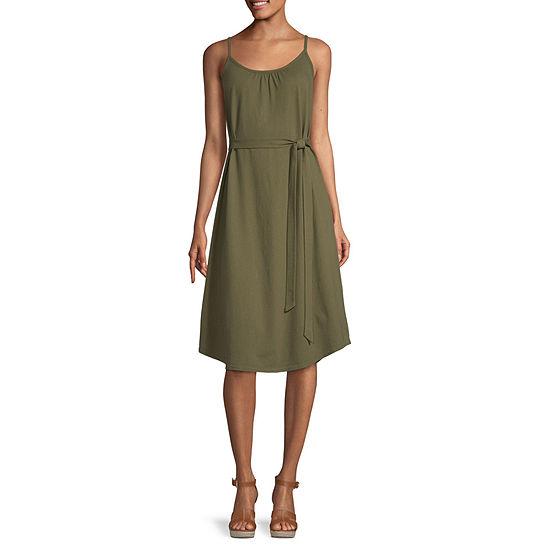 a.n.a Womens Strappy Solid Midi Dress