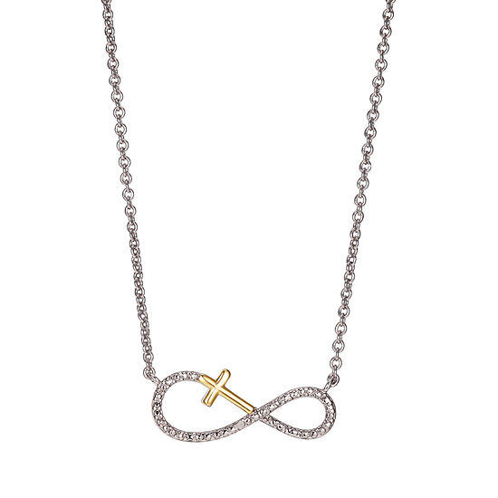 Sparkle Allure Diamond Accent 16 Inch Link Infinity Pendant Necklace