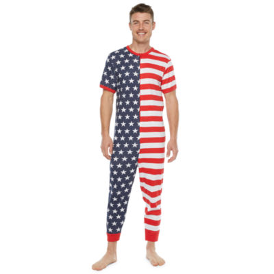 Americana Family Mens Short Sleeve One Piece Pajama