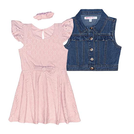 Nannette Baby Toddler Girls Short Sleeve 2-pc. Dress Set