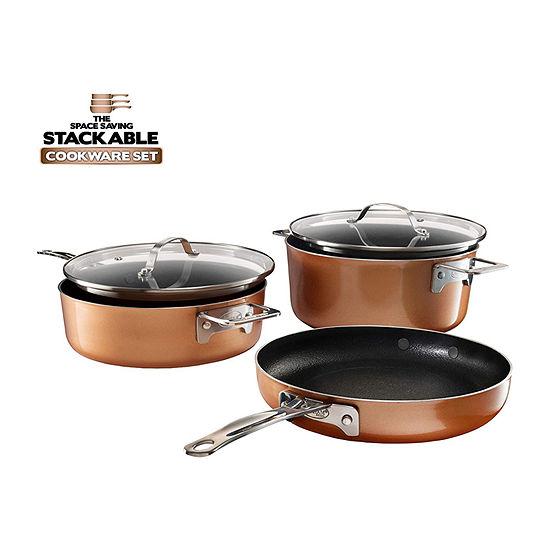 Gotham Steel Stackmaster 5-pc. Aluminum Dishwasher Safe Non-Stick Cookware Set