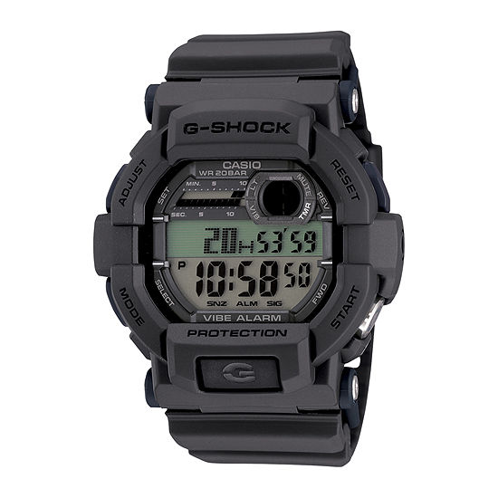 Casio G-Shock Mens Multi-Function Digital Gray Strap Watch-Gd350-8cr