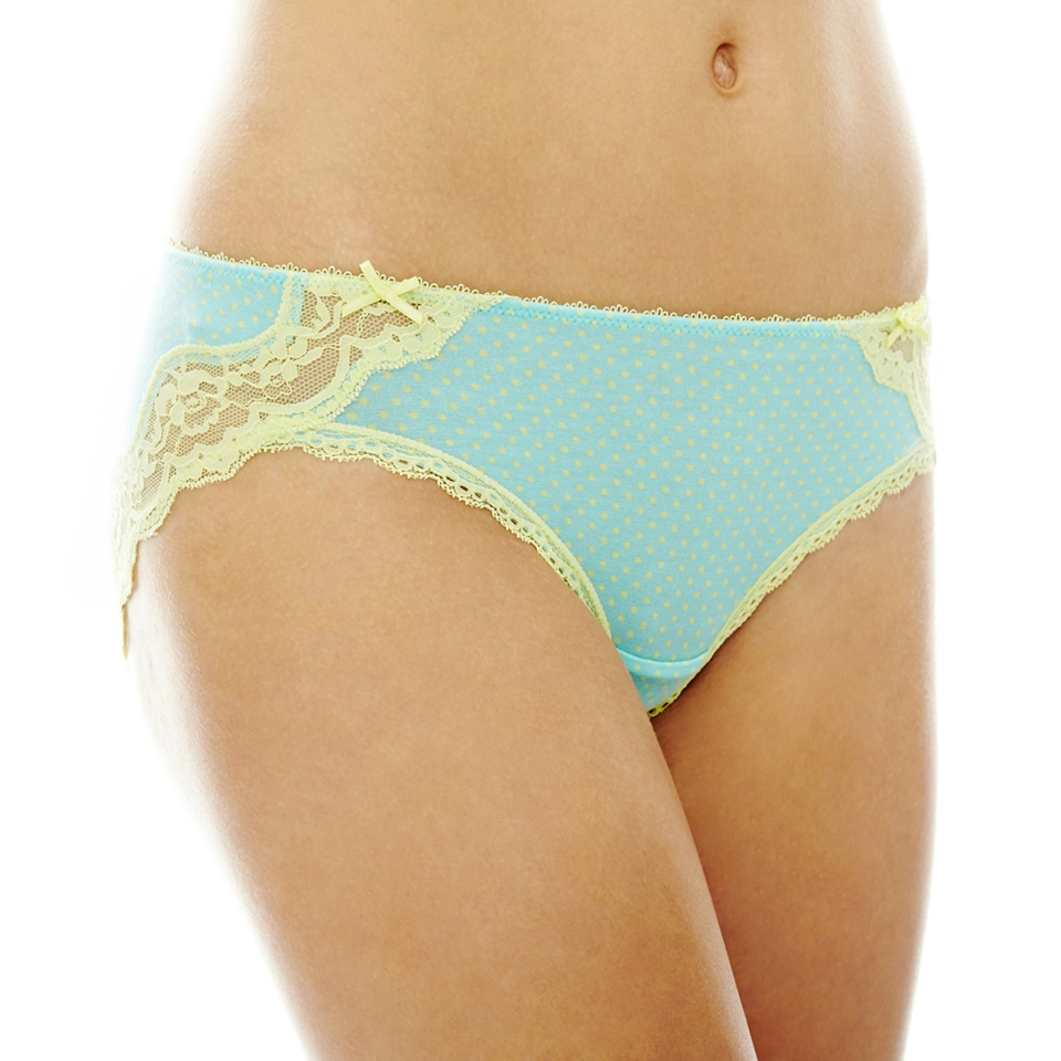 THE BODY Elle Macpherson Intimates Modal and Lace Hipster Panties, Aqua Splsh