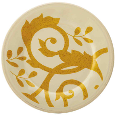 Rachael Ray® Gold Scroll Salad Plate