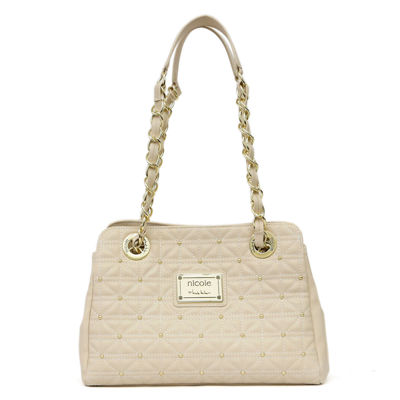 Nicole By Nicole Miller Suzie Quilted Satchel