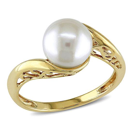 Cultured Freshwater Pearl 10K Yellow Gold Ring