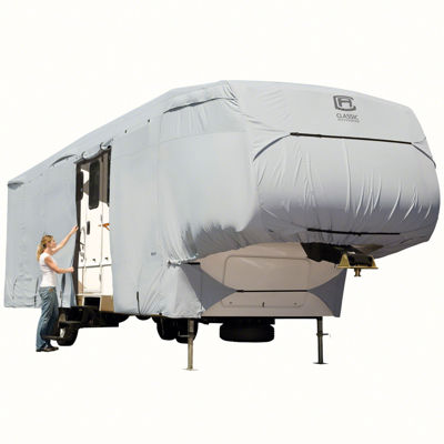 Classic Accessories 80-121-141001-00 PermaPro 5th Wheel & Toy Hauler Cover, Model 1