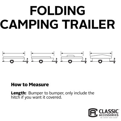 Classic Accessories 80-042-183106-00 PolyPro III Folding Camping Trailer Cover, Model 5