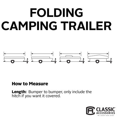 Classic Accessories 80-043-193106-00 PolyPro III Folding Camping Trailer Cover, Model 6