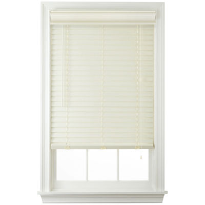 """JCPenney Home™ Cut-to-Width 2"""" Faux-Wood Horizontal Blinds"""