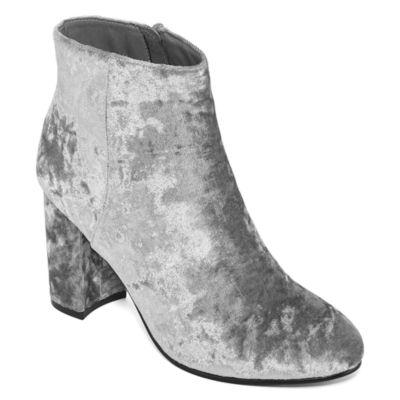 Diba London Womens Booties Block Heel Zip
