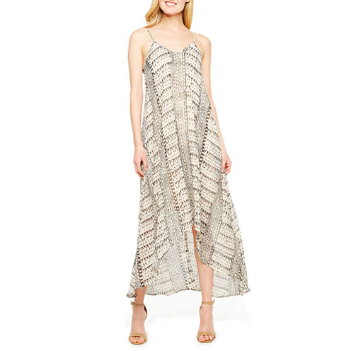 a.n.a Sleeveless Geometric Maxi Dress