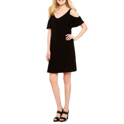 MSK Cold Shoulder Shift Dress