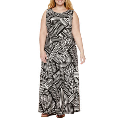 R & K Originals Sleeveless Maxi Dress-Plus