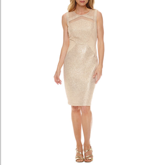 Melrose Sleeveless Embellished Sheath Dress