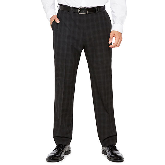 Men's Van Heusen Flex Stretch Flat-Front Hemmed-Leg Woven Suit Pants