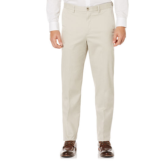 Savane-Big and Tall Mens Regular Fit Flat Front Pant