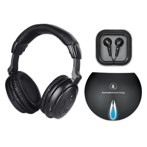 Innovative Technology ITHW-858 Wireless Headphones with Transmitter