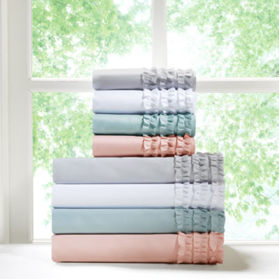 Intelligent Design Ruffled Microfiber Sheet Set with Extra Pillowcases