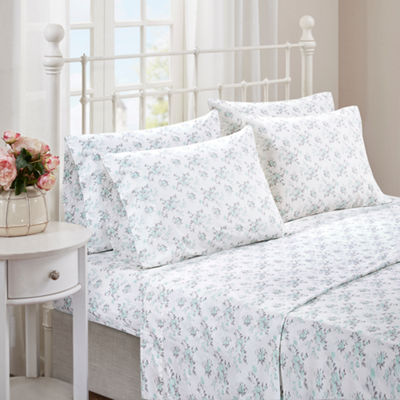 Madison Park 144tc Floral Sheet Set with Extra Pillowcases