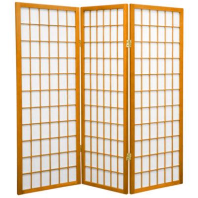 Oriental Furniture 4 Ft. Tall Window Pane Shoji Screen Room Divider