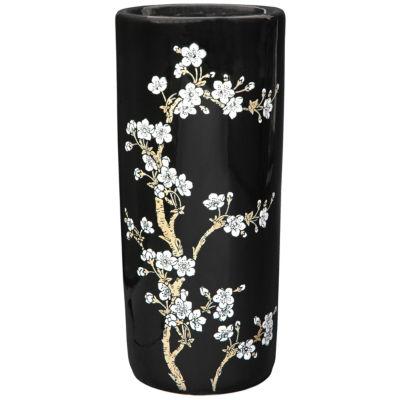 """Oriental Furniture 18"""" Flower Blossom Umbrella Stand"""""""