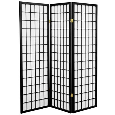 Oriental Furniture 5 Ft Tall Window Pane Shoji Screen Room Divider