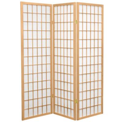 Oriental Furniture 5 Ft. Tall Window Pane Shoji Screen Room Divider