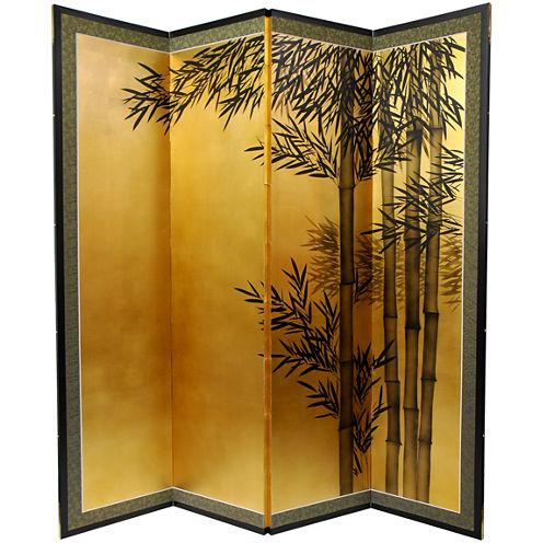Oriental Furniture 5 1/2 Ft. Tall Gold Leaf BambooRoom Divider Room Divider