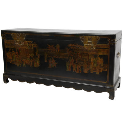 Oriental Furniture Daily Life Storage Trunk