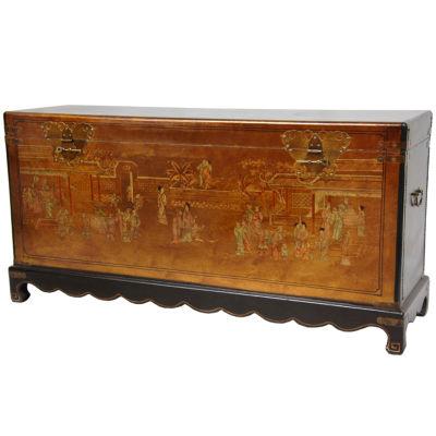 Oriental Furniture Daily Life Storage Trunk
