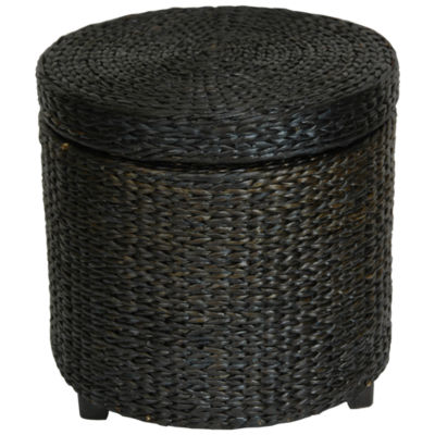 Oriental Furniture Rush Grass Storage Footstool