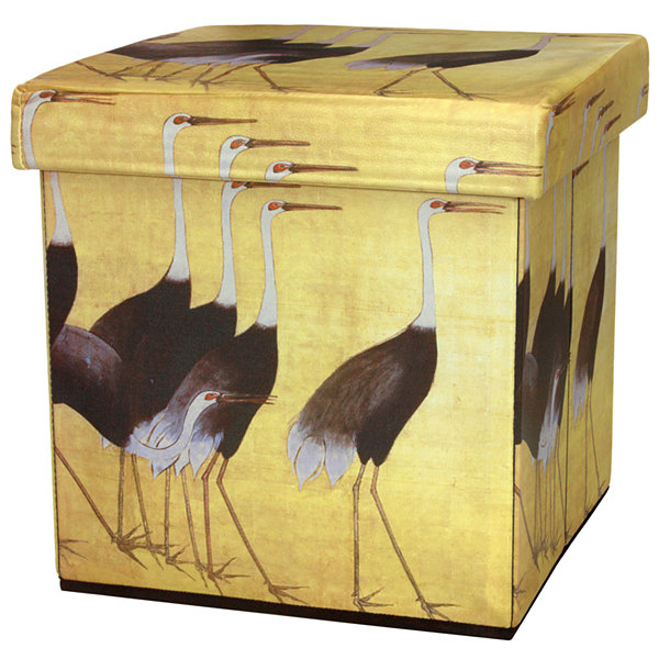 Oriental Furniture March Of The Cranes Footstool