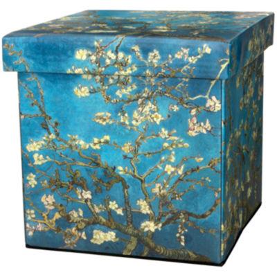 Oriental Furniture Van Gogh Almond Branch Footstool