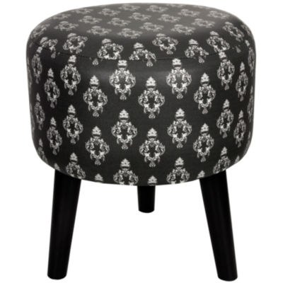 Oriental Furniture Damask Footstool