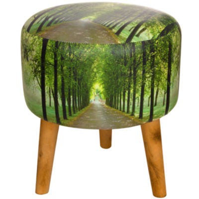 Oriental Furniture Path Of Life Footstool