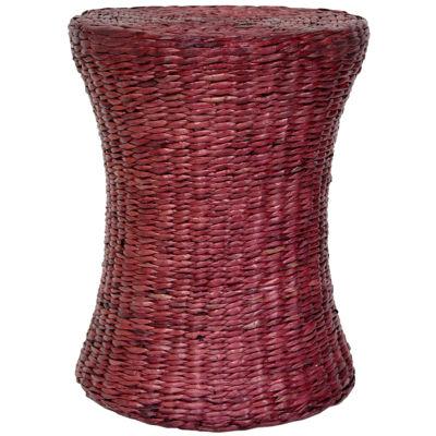 Oriental Furniture Woven Fiber Footstool