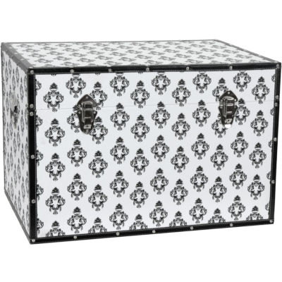 Oriental Furniture Damask Storage Trunk