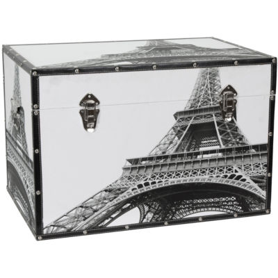 Oriental Furniture Eiffel Tower Storage Trunk