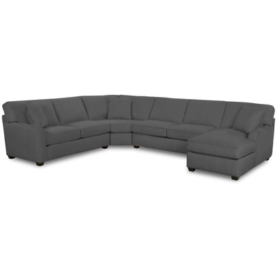 Fabric Possibilities Roll Arm 4-Pc Left Arm Loveseat/Chaise SectionalSectional