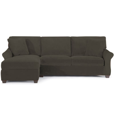 Fabric Possibilities Roll Arm 2-Pc Left Arm Chaise Sectional