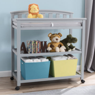 Delta Children Arched 2-Drawer 2-Shelf Changing Table - Painted