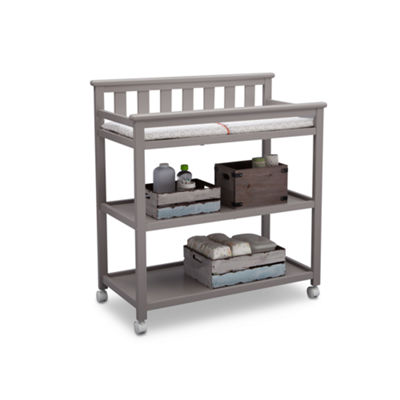 Delta Children Flat Top 2-Drawer 2-Shelf Changing Table - Painted