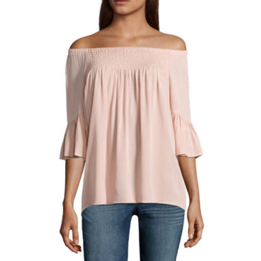 a.n.a Smocked Off The Shoulder Top