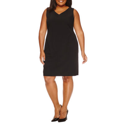 Worthington Sleeveless Sheath Dress-Plus