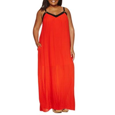 Worthington Sleeveless Maxi Dress-Plus