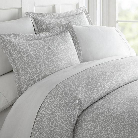 Casual Comfort Premium Ultra Soft 3 Piece Vine Trellis Print Duvet Cover Set