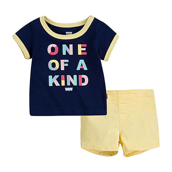 Levi's Baby Girls 2-pc. Short Set